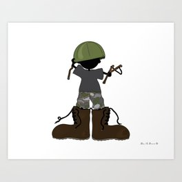 In My Father's Shoes... Art Print