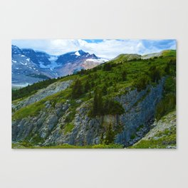 Views along the Wilcox Pass Hike in Jasper National Park, Canada Canvas Print