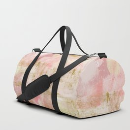 Rustic Gold and Pink Abstract Duffle Bag