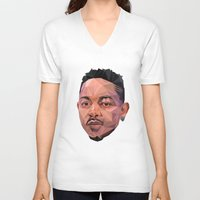 kendrick lamar V-neck T-shirts featuring Kendrick by REEZ