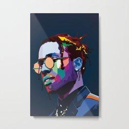 asap  rapper music poster Metal Print