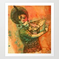 dancer Art Prints featuring Dancer by Himadri Pachori