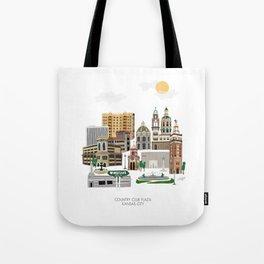 Kansas City Plaza Tote Bag