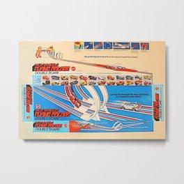 Vintage Hot Wheels Redline Flying Colors Double Scare Trade Print Poster Metal Print