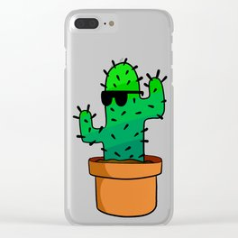 Cool Cactus Clear iPhone Case
