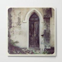 St. Francis Side Door Metal Print