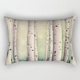Birch wood at Midsummer Rectangular Pillow
