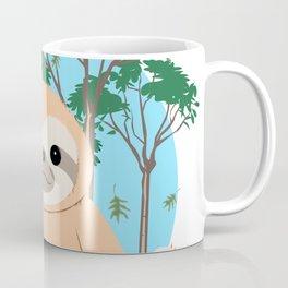 Cute Brown three toed Sloth Coffee Mug