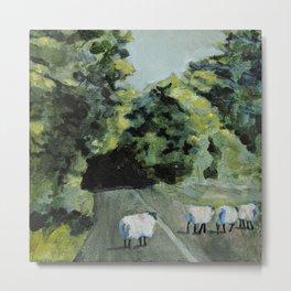 Connemara Sheep Metal Print