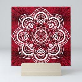 Mandala Red Colorburst #authentic Mini Art Print
