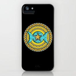 Triple Moon Symbol. iPhone Case