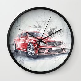 Red Beauty - Benz Wall Clock