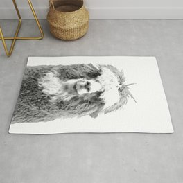 Black and White Alpaca Rug