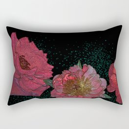 Red flowers Rectangular Pillow