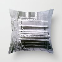jewish Throw Pillows featuring Many quiet moments to rest by Brown Eyed Lady
