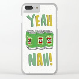 Yeah Nah Clear iPhone Case