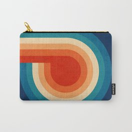 RETRO VIBES - 70's colorful stripes Carry-All Pouch