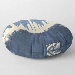 Houston Texas Skyline Floor Pillow