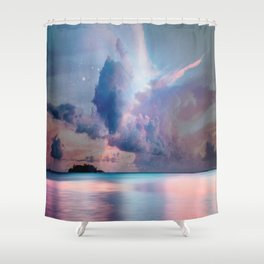 The Island of Life Shower Curtain