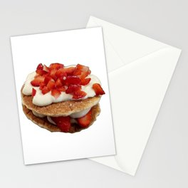 pancakes_strawberries_and_whip_cream Stationery Cards