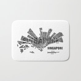 Singapore Map Bath Mat