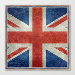 Square Union Jack retro style, made for the Pillows, Duvets and Shower curtains Canvas Print