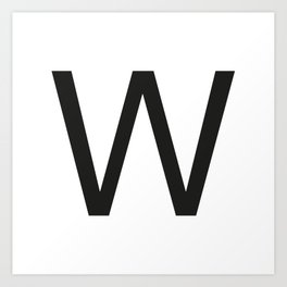 Letter W Art Print