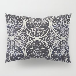 Navy Block Print Pattern Pillow Sham
