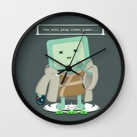 video games Wall Clocks featuring Jedi Mo: You will play video games... by FuManChou