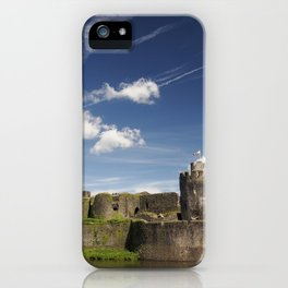 Caerphilly Castle, Wales. iPhone Case