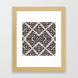 Kaleidoscope Celtic Knot Pattern Print Framed Art Print