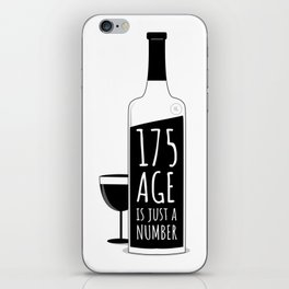 Age is just a number iPhone Skin