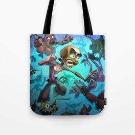 Fighting Goblins Tote Bag