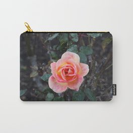 Peach & Pink Rose Carry-All Pouch