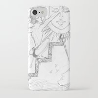sun and moon iPhone & iPod Cases featuring SUN & MOON by MTHARU