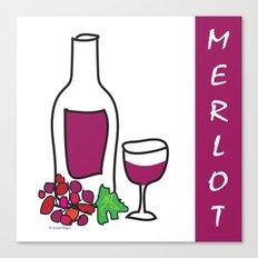 Merlot Wine Canvas Print