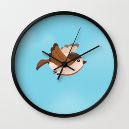 Little Flying Sparrow Wall Clock