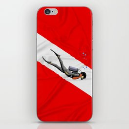 Diver And Dive Flag iPhone Skin