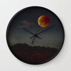 Blood Moon Rising Wall Clock