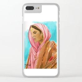 Punjabi Beauty Clear iPhone Case