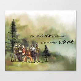 Team 7 Never Give Up Canvas Print