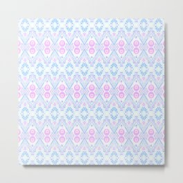 Ikat Java Pink Mini Metal Print