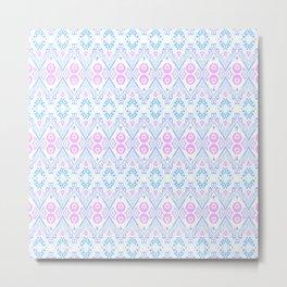 Ikat Java Pink Mini Metal Print
