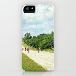Bicycle Riders Arrive in Fairfield iPhone Case