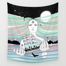 Journey to A Greater Existence (Your Life On Your Hands) Wall Tapestry
