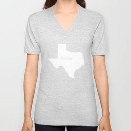 Texas State outline  Unisex V-Neck