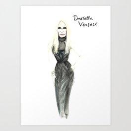 Donatella portrait Art Print