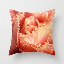Gorgeous Macro Sensual Touch Tulip Throw Pillow