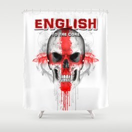 To The Core Collection: England Shower Curtain