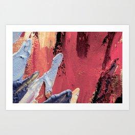 Blue on Pink Art Print